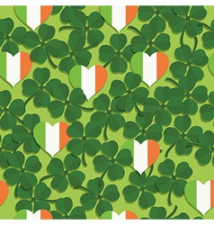 Shamrock pattern vector