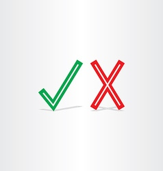 Check mark yes and no symbol design element vector