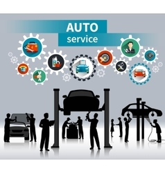 Auto service concept background vector