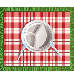 Paper picnic plate vector
