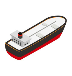 Oil tanker isometric 3d icon vector