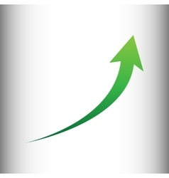 Growing arrow sign vector