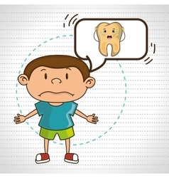 Child with tooth isolated icon design vector