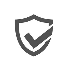 active protection shield icon on a white vector image