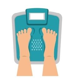 balance scale gym icon vector image vector image