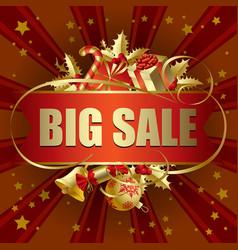 big sale christmas banner vector image vector image