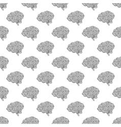 Brain seamless pattern vector image