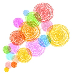 bubbles background 2 vector image