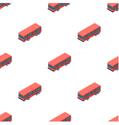 Bus icon in cartoon style isolated on white vector