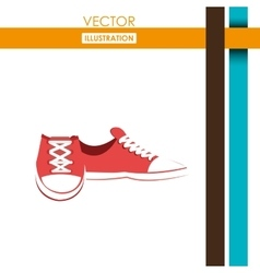 Casual shoes design vector
