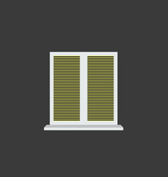 closed window blinds vector image vector image
