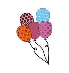 Colorful balloons icon vector