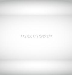 empty studio light interior vector image vector image