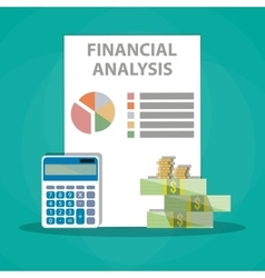 Financial calculations Working process vector image vector image
