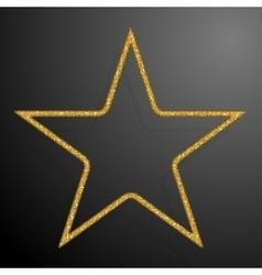 Frame gold sequins star glitter sparkle vector
