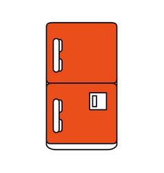 Fridge household electric appliance icon image vector