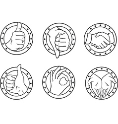 gesture icons vector image
