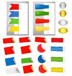 mega set with labels vector image
