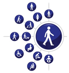 People Buttons vector image