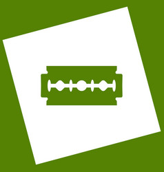 Razor blade sign white icon obtained as a vector