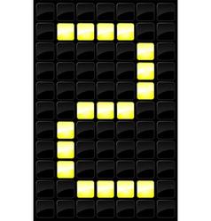 Scoreboard letter icon vector