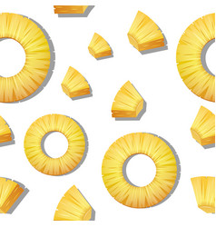 Seamless background template with pineapple vector