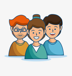 Smiling people icon vector