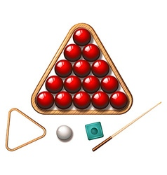 Snooker balls and stick vector