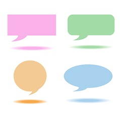Speech bubbles box vector