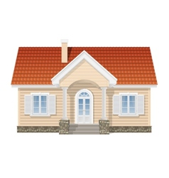 suburban house realistic vector image vector image