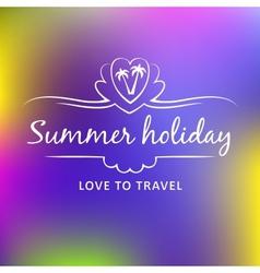 Summer weekend logo vector image vector image