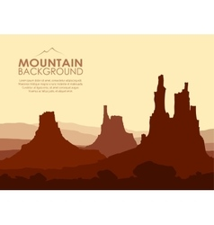 Sunset in huge mountains vector