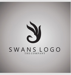 swans logo ideas design on vector image vector image