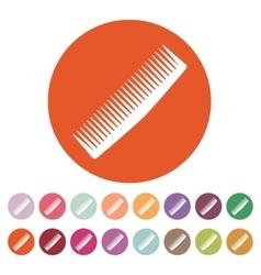 The comb icon Barbershop symbol Flat vector image vector image