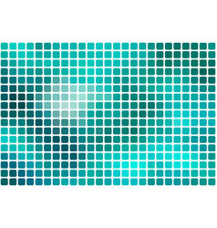 Turquoise green abstract rounded mosaic vector