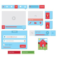 UI Web Elements vector image vector image
