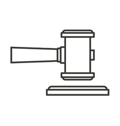 Hammer wood gavel icon vector