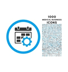 Calendar settings rounded icon with 1000 bonus vector