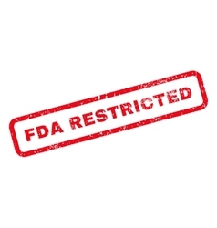 Fda restricted text rubber stamp vector