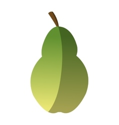 Isolated pear design vector