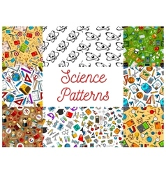 Science seamless patterns vector image