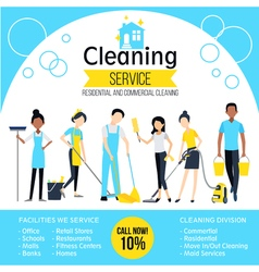 Cleaning company poster vector