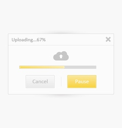 Cloud uploading ui vector