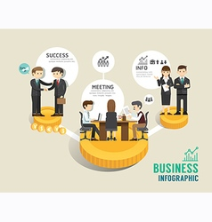 Business stock market board game flat line icons vector
