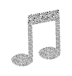 pattern in shape music sing with musical notes vector image