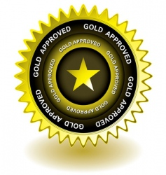approved gold icon vector image