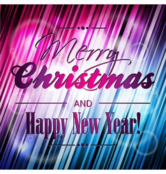 Merry Christmas with typographic vector image