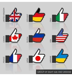 Set of g8 flags like vector