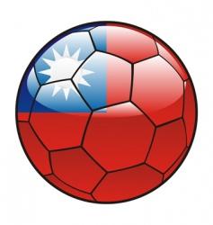 taiwan flag on soccer ball vector image