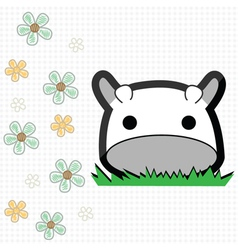 Cute little cow vector